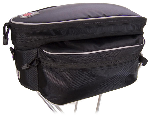 Banjo Brothers Expanding Rack Top Bag Color: Black
