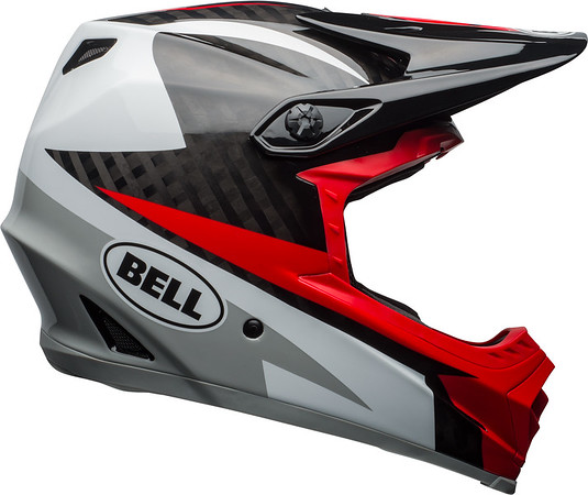 Bell Full-9 Color: Gloss White/Black/Hibiscus Rio