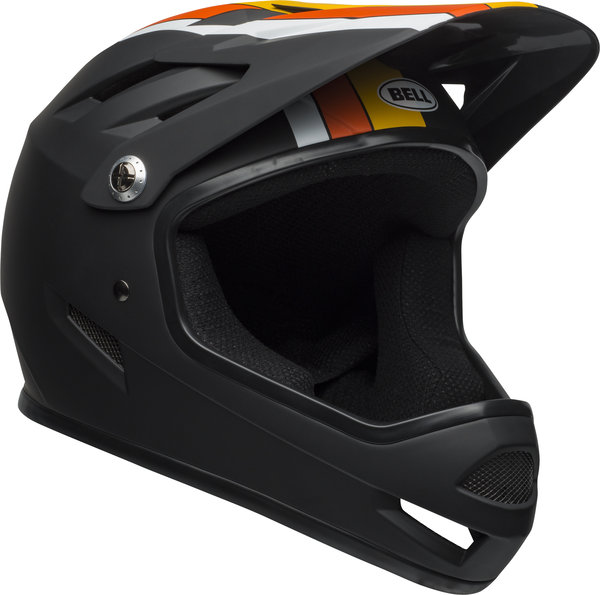 Bell Sanction Color: Agility Matte Black/Yellow/Orange