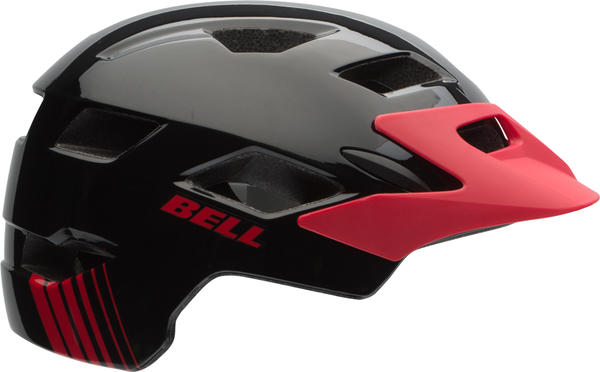Bell Sidetrack Youth Color: Black/Red