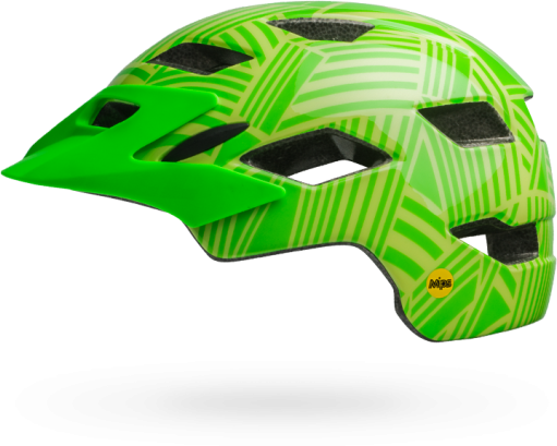 Bell Sidetrack Youth MIPS Color: Gloss Kryptonite/Retina Sear Seeker