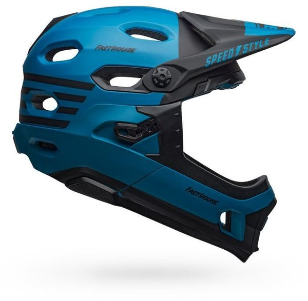 Bell Super DH MIPS Color: Fasthouse Matte Blue/Black
