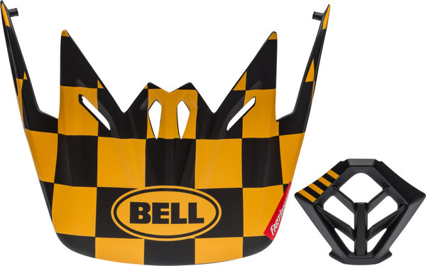 Bell Visor w/Mouthpiece Kit Color: Fasthouse Checkers Matte Black/Yellow