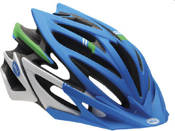 Bell Volt XC Color: Matte Blue/Green Hero