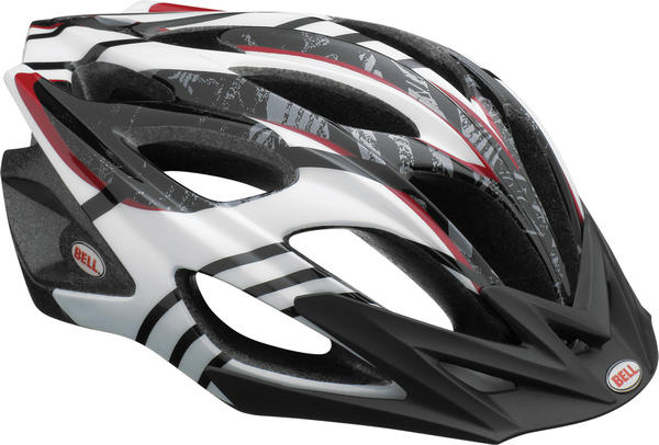 Bell Influx Color: White/Black/Red Splinter