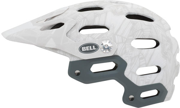 Bell Super Color: White/Silver Web