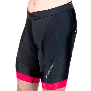 Bellwether Women's Chronos Shorts Color: Black/Ferrari