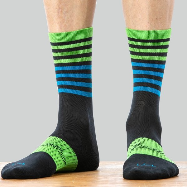 Bellwether Fusion Sock Color: Black/Citrus/Cyan