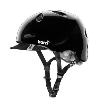 Bern Berkley Color: Gloss Black w/Visor