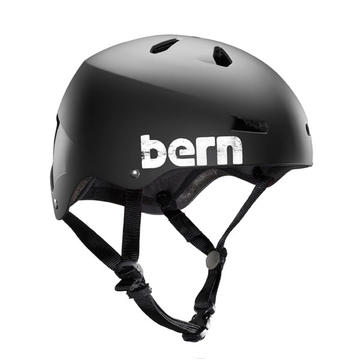 Bern Macon Color: Matte Black Distress Logo