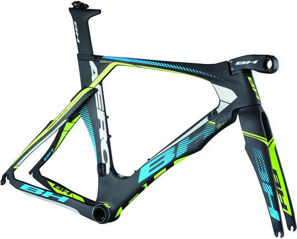 BH Bikes Aerolight Frameset Color: Black/Blue/Yellow