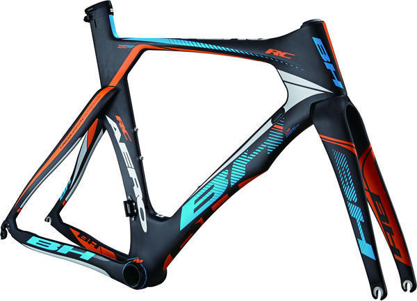 BH Bikes Aerolight RC Frameset Color: Black/Blue/Orange