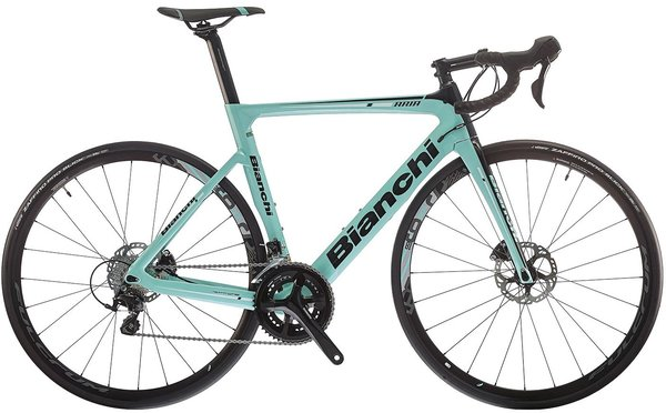 Bianchi Aria Disc 105 Color: Celeste and Black