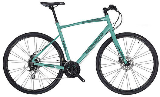 Bianchi C-Sport 4 Image differs from actual product. Triple crankset shown.