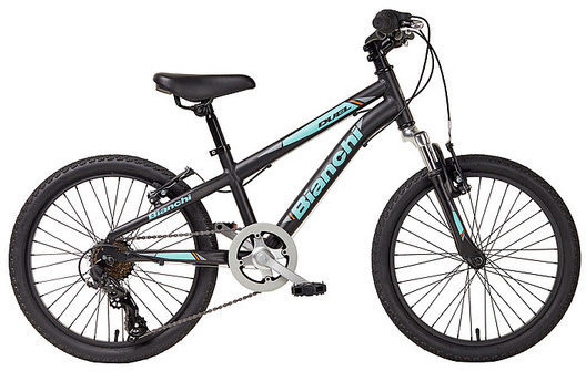 "Bianchi Duel 20"" Boys Color: Black/Celeste Matte"