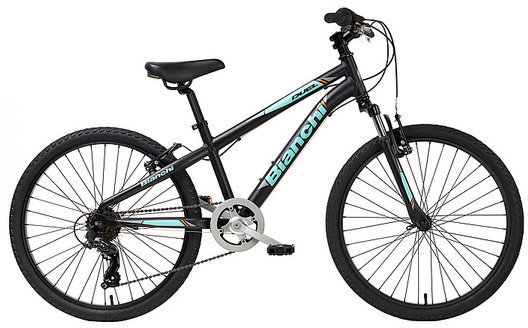 "Bianchi Duel 24"" Boys Color: Black/Celeste Matte"