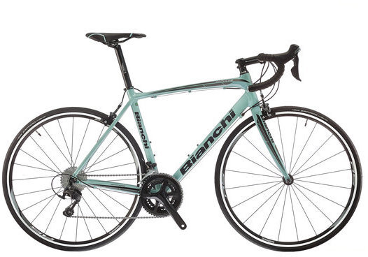 Bianchi Impulso 105 Color: Celeste/Black Gloss