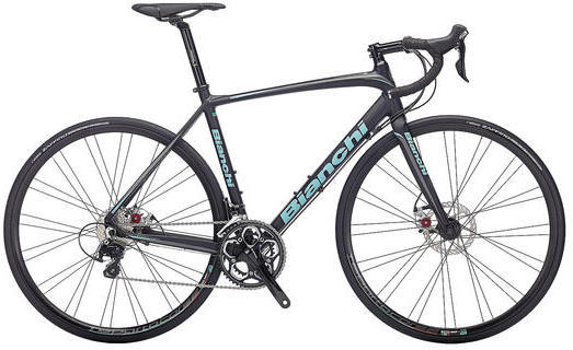 Bianchi Impulso 105 Disc Color: Black Matte/Celeste Gloss