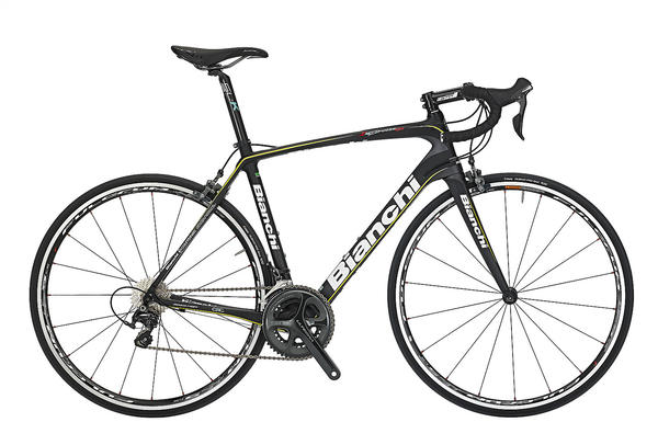 Bianchi Infinito CV Ultegra Color: Black/Yellow