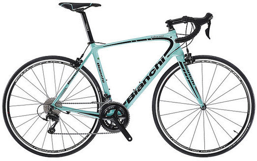 Bianchi Intenso 105 Color: Celeste/Black Gloss