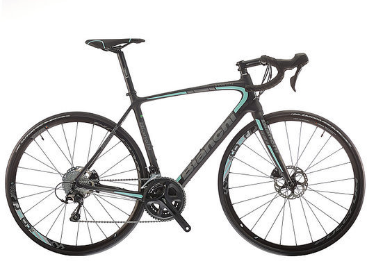 Bianchi Intenso Disc 105 Color: Black/Celeste Matte