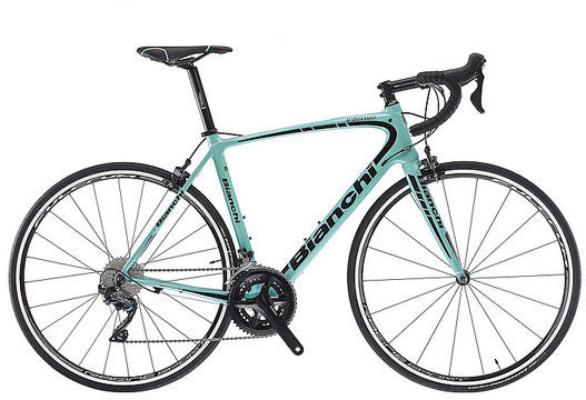 Bianchi Intenso Ultegra Color: Celeste/Black Gloss