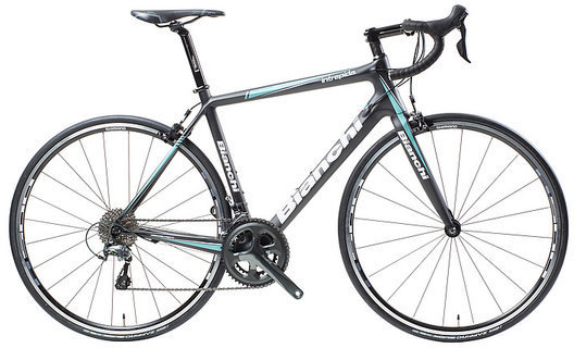 Bianchi Intrepida Tiagra Color: Black/Celeste Matte