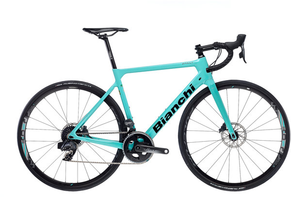 Bianchi Sprint Disc Force eTAP Color: Celeste/Gloss Black