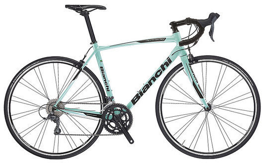 Bianchi Via Nirone Claris Color: Celeste/Black Gloss