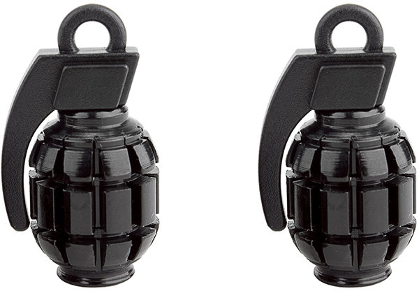 Black Ops Grenade Valve Caps Color: Black