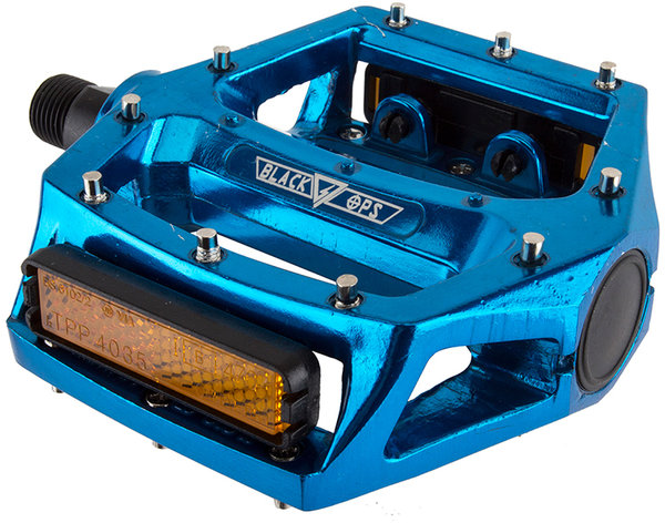 Black Ops Platform Pedals Color: Anodized Blue
