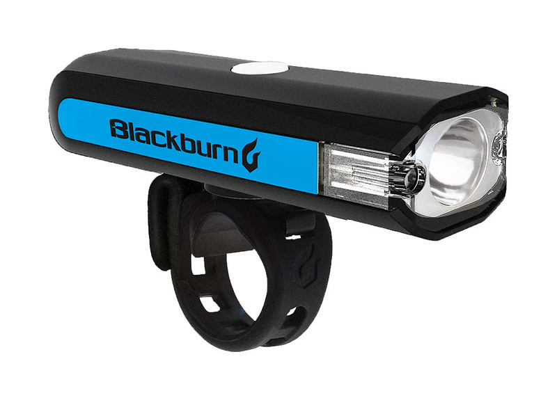 Blackburn Central 350 Micro Front Light Color: Black/Blue