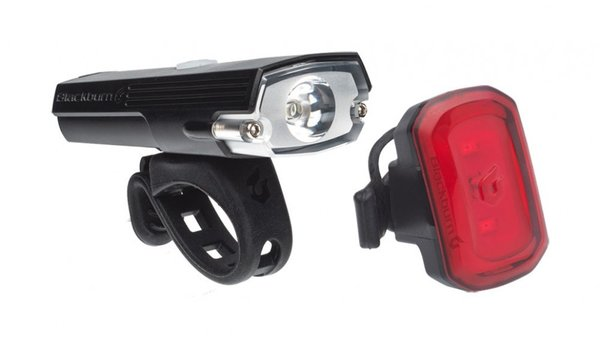 Blackburn Dayblazer 400 Front + Click USB Rear Light Set Color: Black