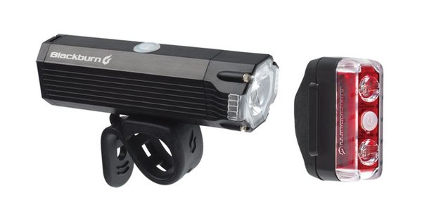 Blackburn Dayblazer 800 Front + Dayblazer 65 Rear Light Set Color: Black