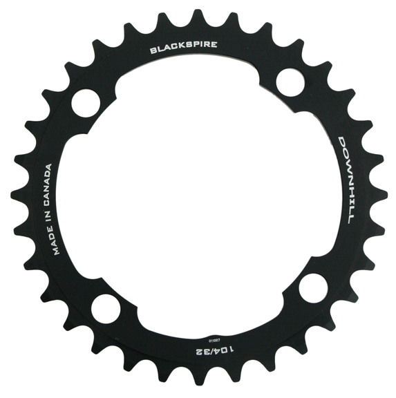 Blackspire Downhill Chainring Color | Model | Size: Black | 4x104mm | 32t