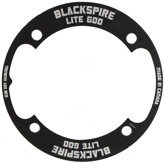 Blackspire Lite God Bash Guard Color | Model | Size: Black | 4 x 120mm | 30t