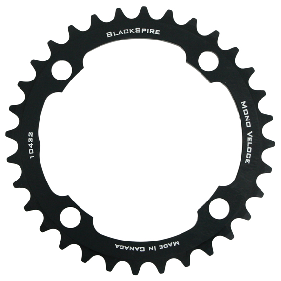 Blackspire Mono Veloce Chainring Color | Model | Size: Black | 4x104mm | 32t