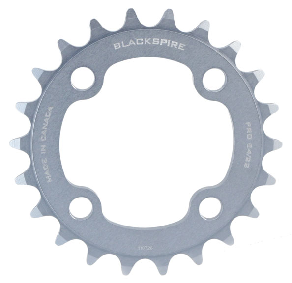 Blackspire Pro Chainring Color | Model | Size: Grey | 4x64mm | 22t
