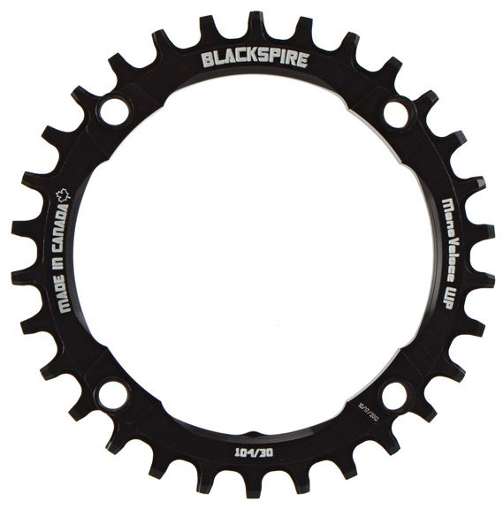 Blackspire Snaggletooth Wide Profile Chainring Color | Model | Size: Black | 4x104mm | 30t