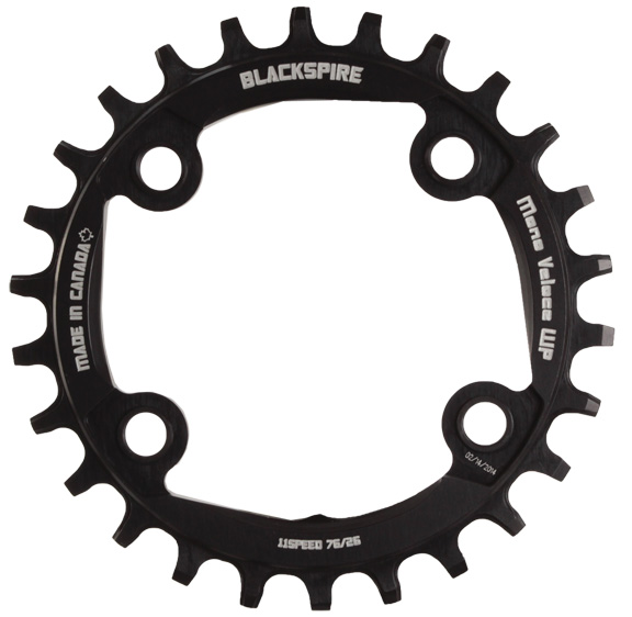 Blackspire Snaggletooth Wide Profile Chainring Color | Model | Size: Black | 4x76mm | 26t