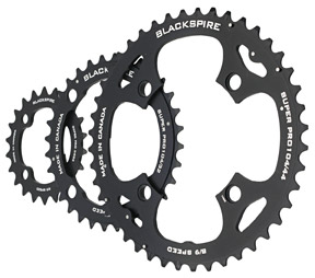 Blackspire Super Pro Chainring Color | Model | Size: Black | 4x64/104mm | 22/32/44t