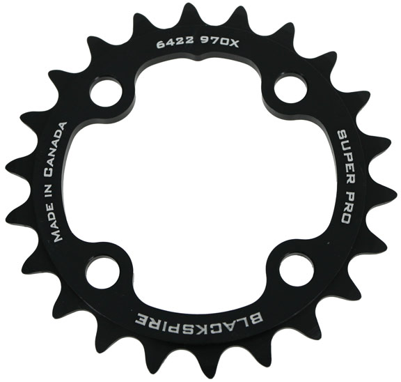 Blackspire Super Pro M970X Chainring Color | Model | Size: Black | 4x64mm | 22t