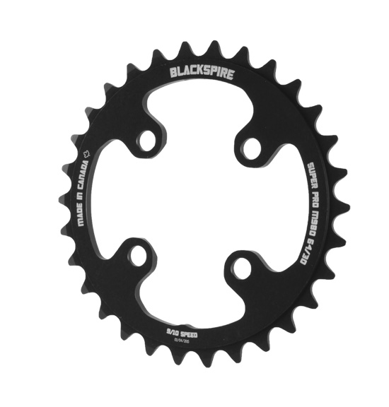 Blackspire Super Pro M980X Chainring Color | Model | Size: Black | 4x64mm | 22t