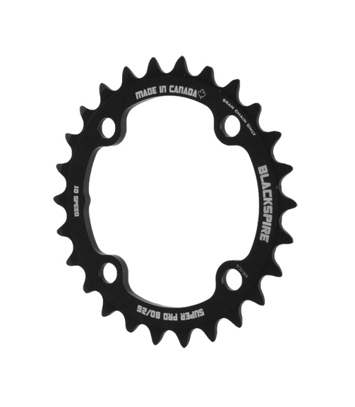 Blackspire Super Pro XX/X0/X9/X7 Chainring Color | Model | Size: Black | 4x80mm | 26t