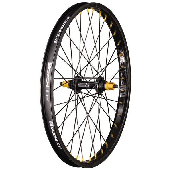 Black Label Front Wheel Color: Black/Gold