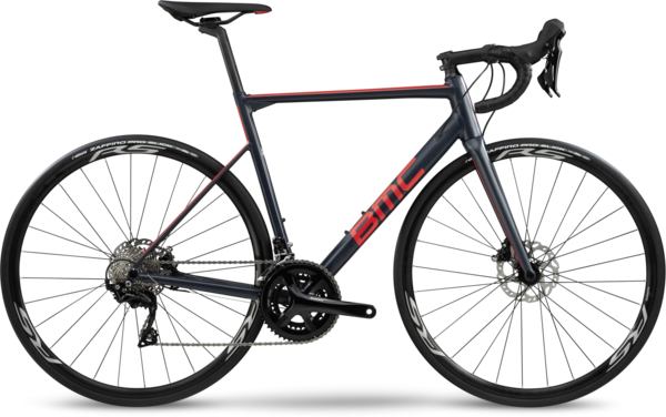 BMC Teammachine ALR Disc Two Color: Steel Blue/Neon Red