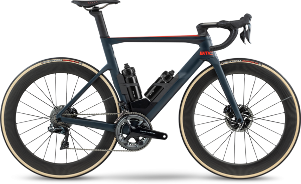 BMC Timemachine 01 Road Two Color: Steel Blue/Neon Red