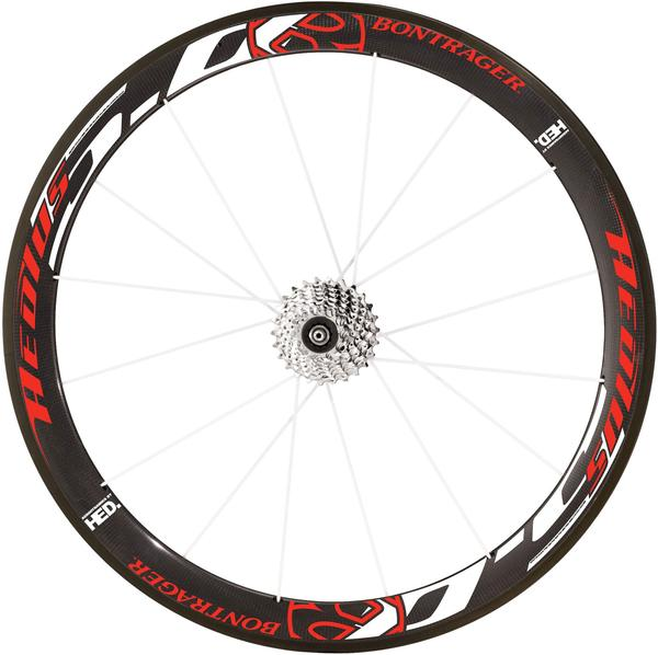 Bontrager Aeolus 5.0 Rear Wheel (Clincher) Color: Red