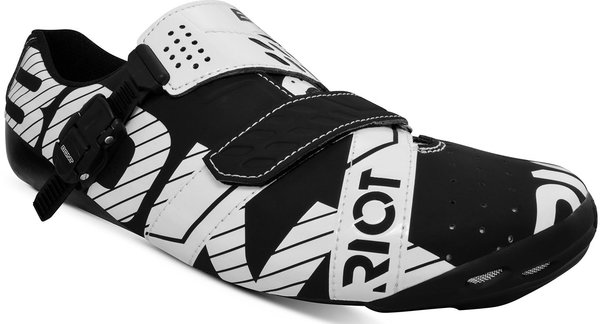 Bont Riot Buckle Road Cycling Shoes Color: Black/White