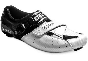 Bont Riot Road Shoes Color: White/Black